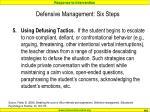 defensive management six steps4