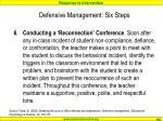 defensive management six steps5