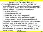 global skills checklist example