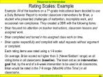 rating scales example