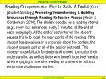 reading comprehension fix up skills a toolkit cont