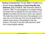 reading comprehension fix up skills a toolkit cont1