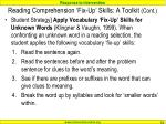 reading comprehension fix up skills a toolkit cont3