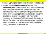 reading comprehension fix up skills a toolkit cont4
