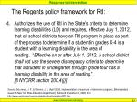 the regents policy framework for rti