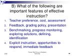 b what of the following are important features of effective instruction