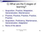 c what are the 5 stages of learning