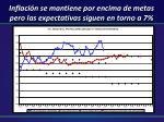 inflaci n se mantiene por encima de metas pero las expectativas siguen en torno a 7