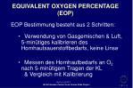 equivalent oxygen percentage eop