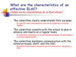what are the characteristics of an effective elac cu les son las caracter sticas de un elac eficaz