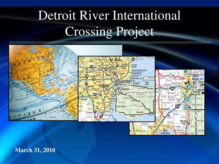 detroit river international crossing project n.