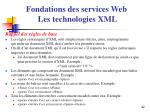 fondations des services web les technologies xml2