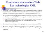 fondations des services web les technologies xml6