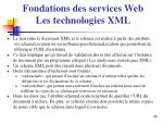 fondations des services web les technologies xml7
