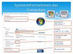 systeminformationen des computers