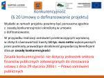 konkurencyjno 20 umowy o dofinansowanie projektu