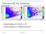 electron ecal isolation