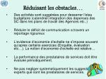 r duisant les obstacles