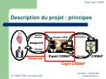 description du projet principes