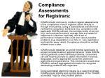 compliance assessments for registrars