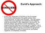 eurid s approach