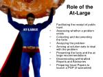 role of the at large