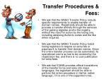 transfer procedures fees1