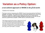 variation as a policy option