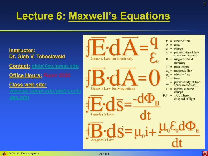 lecture 6 maxwell s equations n.
