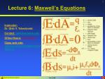 lecture 6 maxwell s equations