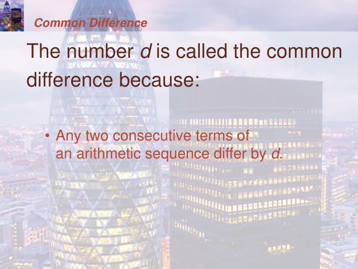 Common Difference