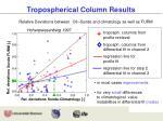 tropospherical column results