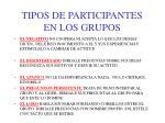 tipos de participantes en los grupos1