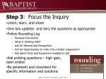 step 3 focus the inquiry