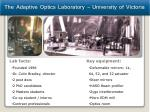 the adaptive optics laboratory university of victoria