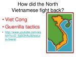 how did the north vietnamese fight back