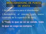 merchandising de punto de venta