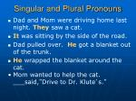 singular and plural pronouns7