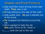 singular and plural pronouns8
