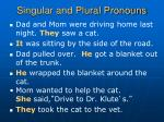 singular and plural pronouns9