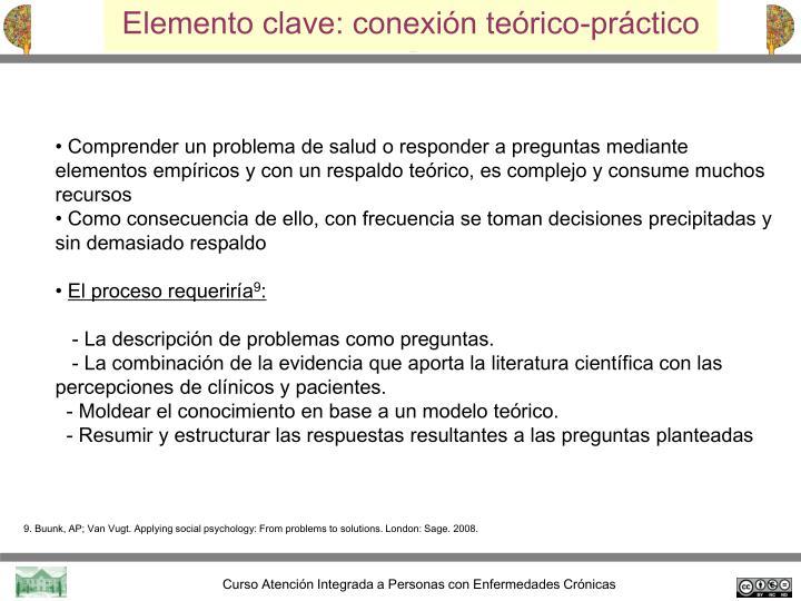 Elemento clave: conexión teórico-práctico