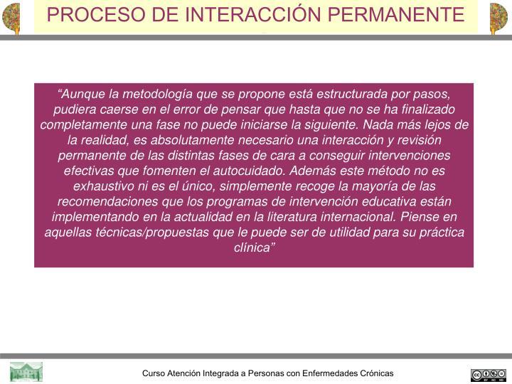 PROCESO DE INTERACCIÓN PERMANENTE