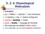 5 2 4 etymological motivation
