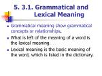 5 3 1 grammatical and lexical meaning1