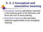 5 3 2 conceptual and associative meaning