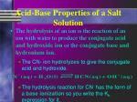 acid base properties of a salt solution2