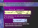 equilibria involving a weak acid2