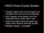 hado snow crystal studies