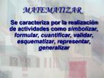 matematizar