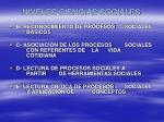 niveles ciencias sociales